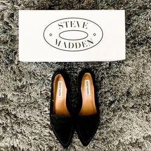 Steve Madden - Cheryl Black Suede Loafers